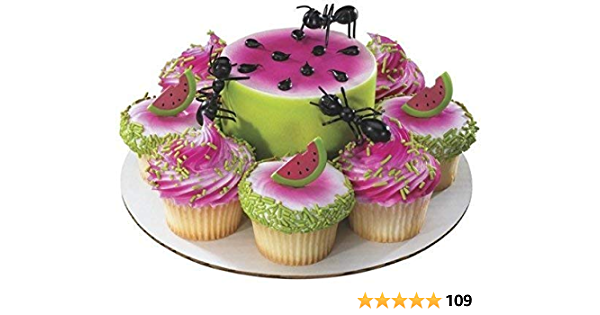 Plastic Ants Cake Topper 12 Count
