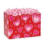 Small Ombre Hearts Basket Boxes - 6.75 x 4 x 5in. - 54 Pack