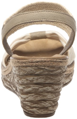 Rieker Women's 69472 Wedge Heel Open Sandals Beige - Beige (Beige-weiss/Lino/Offwhite / 61) 8byXZ66