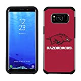 Prime Brands Group Textured Team Color Cell Phone Case for Samsung Galaxy S8 Plus - NCAA Licensed University of Arkansas Razorbacks