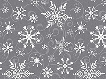 amazon com swirling snowflakes gray white silver christmas holiday