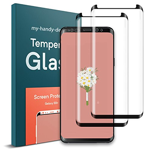 Galaxy S9 Plus Screen Protector, Case Friendly Scratch Proof 3D Curved Edge Screen Protector, Galaxy S9 Plus Tempered Glass Screen Protectors for Samsung Galaxy S9 Plus [2-Pack]
