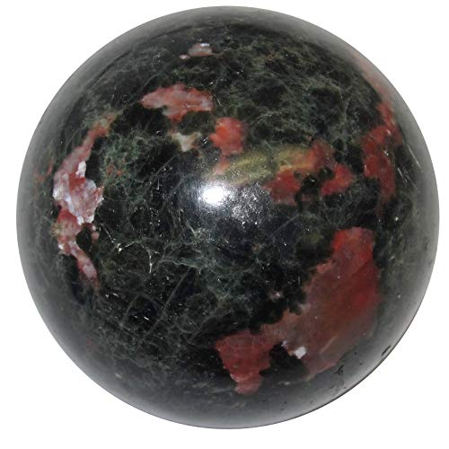 SatinCrystals Opal Sphere Ball Premium Red Pink Fire Stone of Creativity Inspiration Art Beauty Green Matrix P02 (1.6 ()