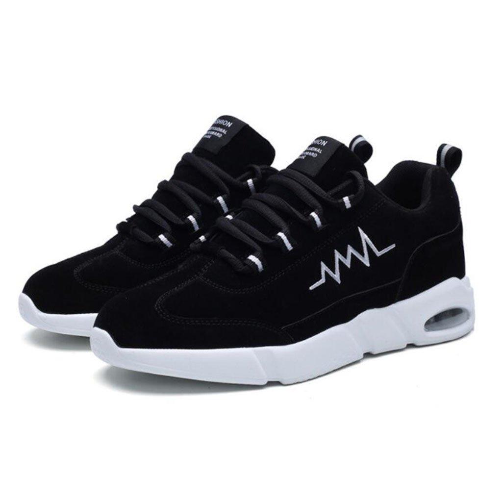 GAOLIXIA Hombres Gamuza Ocio Zapatos para correr Primavera Moda Air Cushion Zapatos deportivos Ligero Caminar Senderismo Zapatos de senderismo (Color : Black, tamaño : 39) 39 Black
