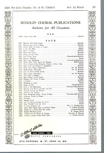 Give Thanks Music Sheet - We Give Thanks - Sheet Music for SATB and Youth Choirs Combined