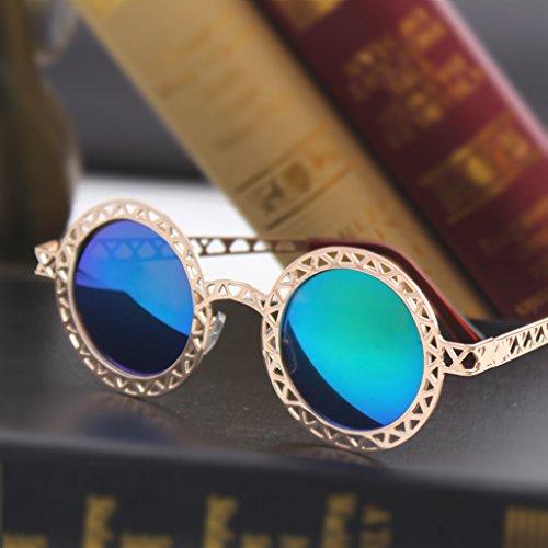 de Lunettes Couleur Creux Lunettes de Mode des Protection de Soleil B Lunettes X156 Soleil D colorées de UV Lunettes Rondes Yp0ACqAnwR