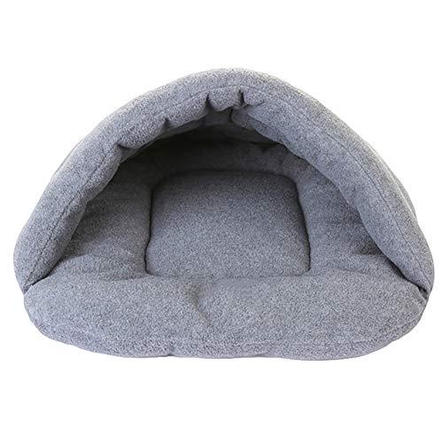 bromrefulgenc Pet Bed,Pet Sleeping Pouch,Warm Soft Slipper Shape Cat Dog Sleeping Bag Autumn Winter Pet Nest House Kennel - Grey ()