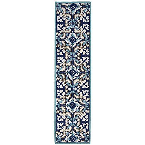 Liora Manne RV1R8A94733 Torello Geometric Flowers Rug, Indoor/Outdoor, 24