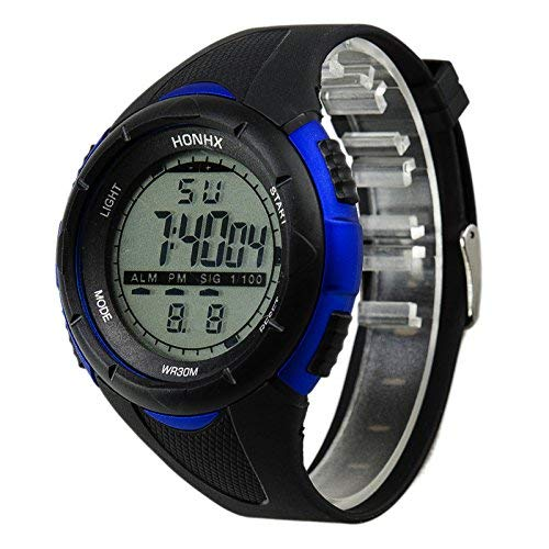 OUSPOTS Luxury Men Sport Watches,Analog Digital Military Army Sport LED Waterproof Wrist Watch Fashion Business Watches Gift (Blue 3001)