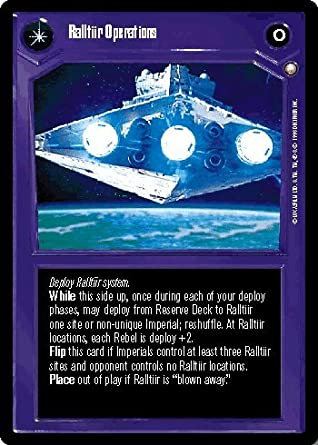 In The Hands Of The Empire Star Wars CCG Special Edition Ralltiir Operations