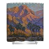 Pixels Shower Curtain (74'' x 71'') ''Palm Oasis At La Quinta Cove''