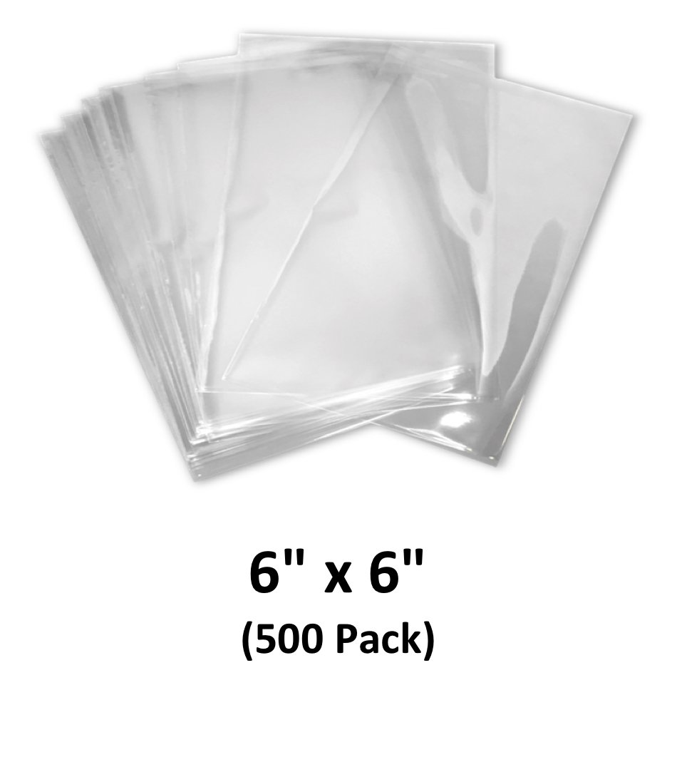 6x6 inch Odorless, Clear, 100 Guage, PVC Heat Shrink Wrap Bags for Gifts, Packagaing, Homemade DIY Projects, Bath Bombs, Soaps, and Other Merchandise (500 Pack) | MagicWater Supply