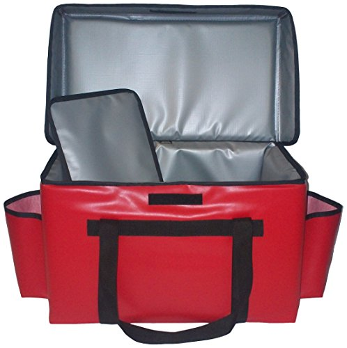TCB Insulated Bags GFC-Red Insulated Food Service Bag, Holds 8 Meals, 13'' x 22'' x 14'', Red by TCB Insulated Bags