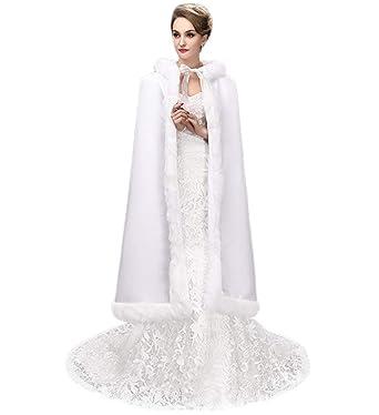 1d6ab9185 Amazon.com  SK Studio Women Wraps Cape Faux Fur Wedding Coat Suit ...