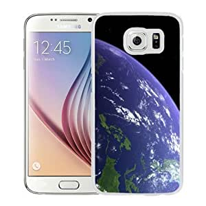 Fashionable Custom Designed Samsung Galaxy S6 Phone Case With Planet Earth Orbital View_White Phone Case Kimberly Kurzendoerfer