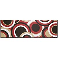 Modern Living Circles Decorative Area Accent Rug, 20 by 60-Inch