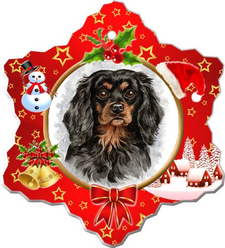- Cavalier King Charles Spaniel Porcelain Holiday Ornament