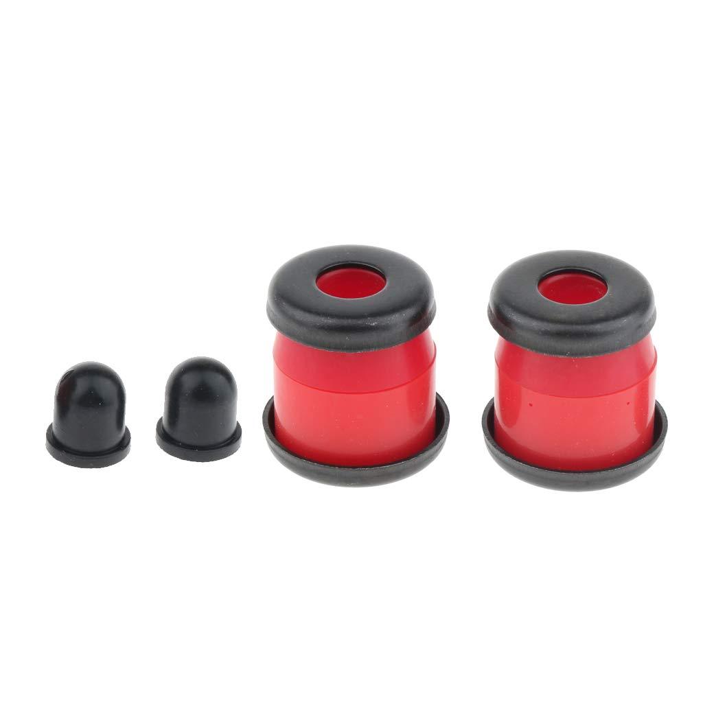 B Blesiya 4 Pcs Arandelas de Seguridad para Skateboard 3.25 en rojo