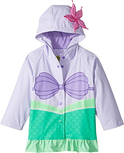 Disney Princess Jacket - Western Chief Kids Disney Character lined Rain Jacket, Ariel Disney Princess, 4T