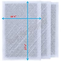 Dynamic Air Cleaner Replacement Filter Pads 18 x 20 Refills (3 Pack) White