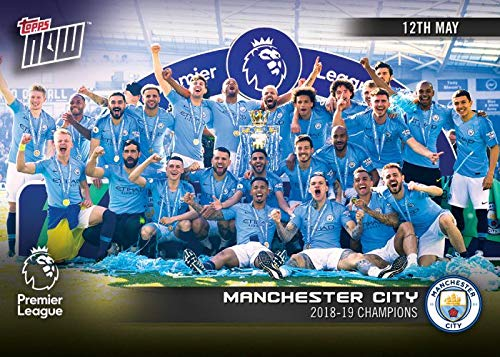 MANCHESTER CITY 2018 CHAMPIONS POSTER 24x36-34324