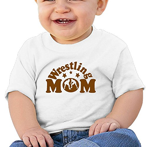 Cute Short-Sleeves Tee Wrestling Mom 1 6-24 Months Baby Boy Toddler by Moniery