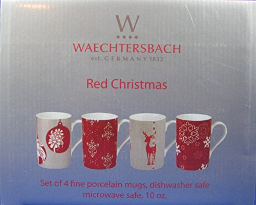Waechtersbach Red Christmas Mugs-Set of 4 for sale  Delivered anywhere in USA