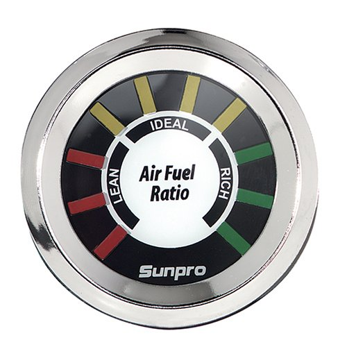amazon com: sunpro cp8200 styleline air/fuel ratio gauge dial - white dial:  automotive