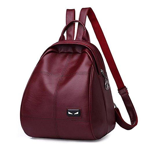 sac 27cm PU 15 multifonctionnel 23 en cuir mode dos de main de sac femmes à à souple Sac décontracté qvHUIfwq