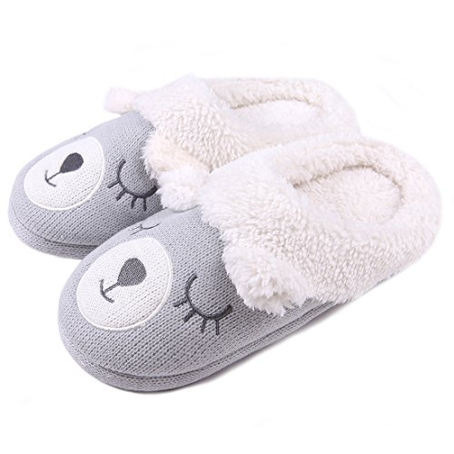 ChicNChic-Women-Warm-Plush-Cute-Bear-Slippers-Cartoon-Knit-Cozy-Soft-Slip-on-Indoor-Shoes
