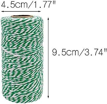 100M Baumwolle Schnur 2MM Bastelschnur Dekokordel Schnur Perfekt f/ür DIY Kunstgewerbe Gartenarbeit G2PLUS Grau B/äcker Bindf/äden