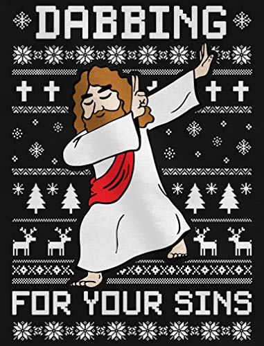 Maglietta Per Verde Dabbing Christmas Gesù Sins E Bambini Ugly Shirtgeil Ragazzi For Your Dab Oqd866zxw