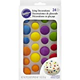Wilton 710-6021 Colorful Dots Edible Icing Decorations