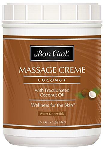 对于出售 Bon Vital' Coconut Massage Crème Made with 100% Pure Fractionated Oil, Cream &