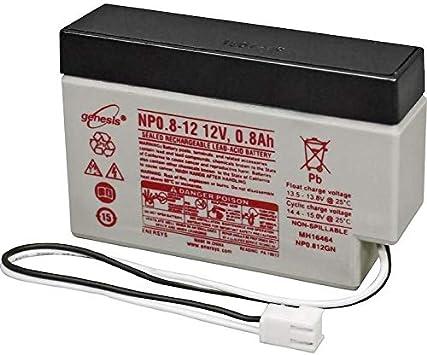 Energsys - Batería de plomo estanca NP0.8-12 (12 V, 0,8 Ah): Amazon.es: Electrónica