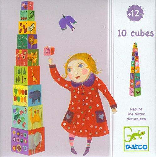 - DJECO Nature & Animal Blocks - 10 Stacking Blocks