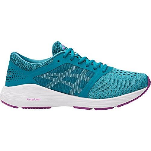 Motion Running Control Women Shoes (ASICS Women's Roadhawk FF Aquarium/White/Orchid 12 B US)