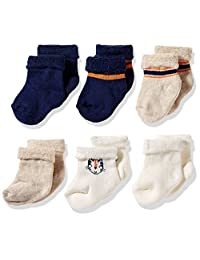 Gerber baby-boys standard 6-pair Wiggle Proof Sock