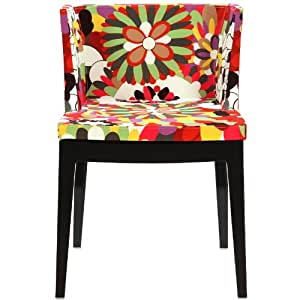 Modway Mademoiselle Style Accent Chair with Black Acrylic Base