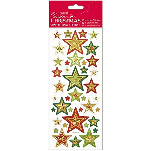 DOCrafts Create Christmas Foiled and Embossed Stickers PMA806900