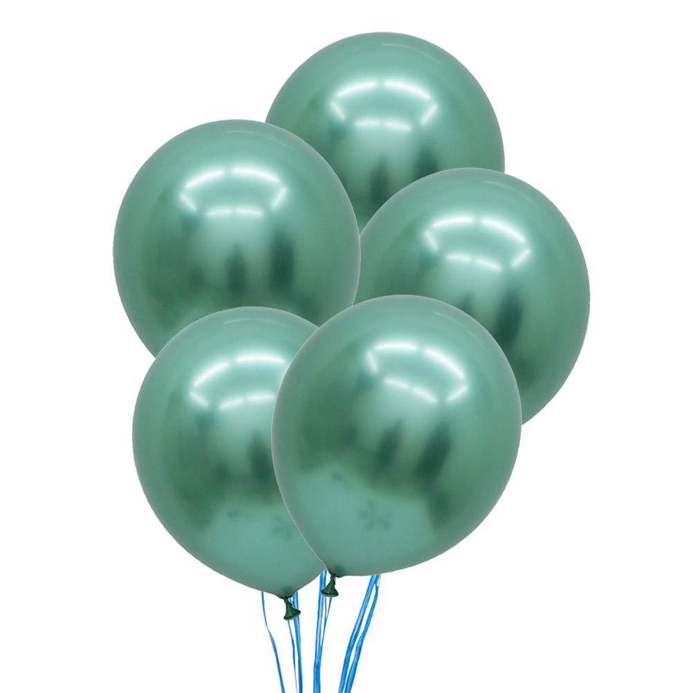 STOBOK 5pcs 12 Pouces Latex Ballons métalliques fête Anniversaire Mariage Perle Ballons décoration (Vert)
