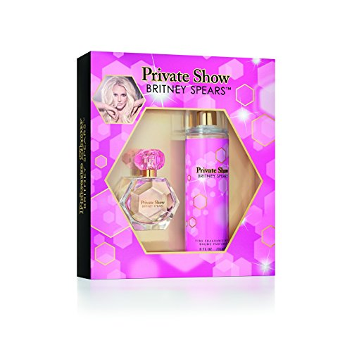 Britney Spears Private Show Ladies Gift Set, includes fine fragrance mist of 8 fl oz and an EDP parfum spray vaporisateur of 1 fl (Energizing Edt Spray)
