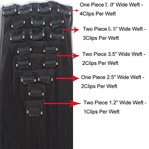 8Pcs 18 Clips 17-26 Inch Curly Straight Full Head Clip in on Hair Extensions Women Lady Hairpiece,Ash Blonde Mix Bleach Blone#1,24 Inch-Curly by DODOING (Image #4)