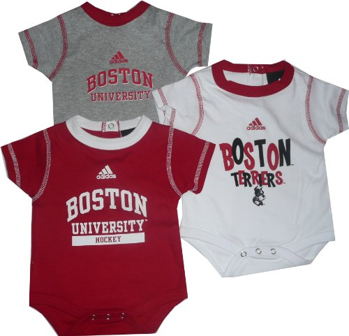 Boston University Terriers 3pc Creeper Set Infant Baby Buy Online