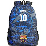 ee30ca7185 Messi Backpack Kids Back to School Barcelona Backpack Outdoor Travel Dark  Blue