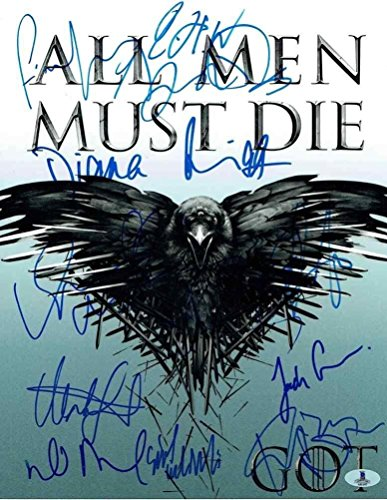 Game of Thrones Cast Autographed Signed 11x14 Photo Certified Authentic BAS COA - Beckett Authentication