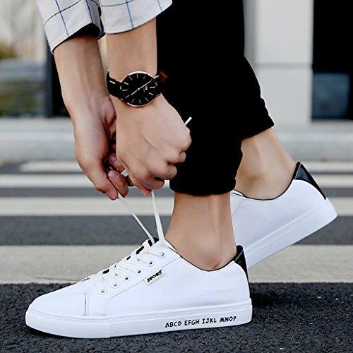 43 scarpe casual stoffa Colour3 Color di in basse di Scarpe tela YaNanHome tela Size unisex Bianca scarpe scarpe scarpe di coreano vita RxPq4w8zS