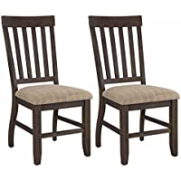 Ashley Furniture Signature Design - Dresbar Dining Room Chair - Classic Rake Back with Plush Seats - Set of 2 - Cream Finish