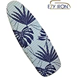 "Ezy Iron Padded Ironing Board Cover Thick Padding, Slashes Your Iron Time, Heat Reflective Fits Standard and Large Boards 15"" x 54"" Premium Heavy Duty Cover and Pad (Hamptons Style)"