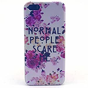 PowerQ [for Iphone5C IPhone 5C - Normal people] Colorful Pattern Plastic Series Case Bag Pattern Print Printing Drawing Cell Phone Case mobile Cover Protect Skin